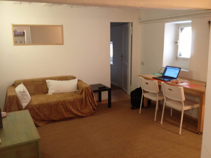 My living room of my 30 square meters (325 square feet) apartment.