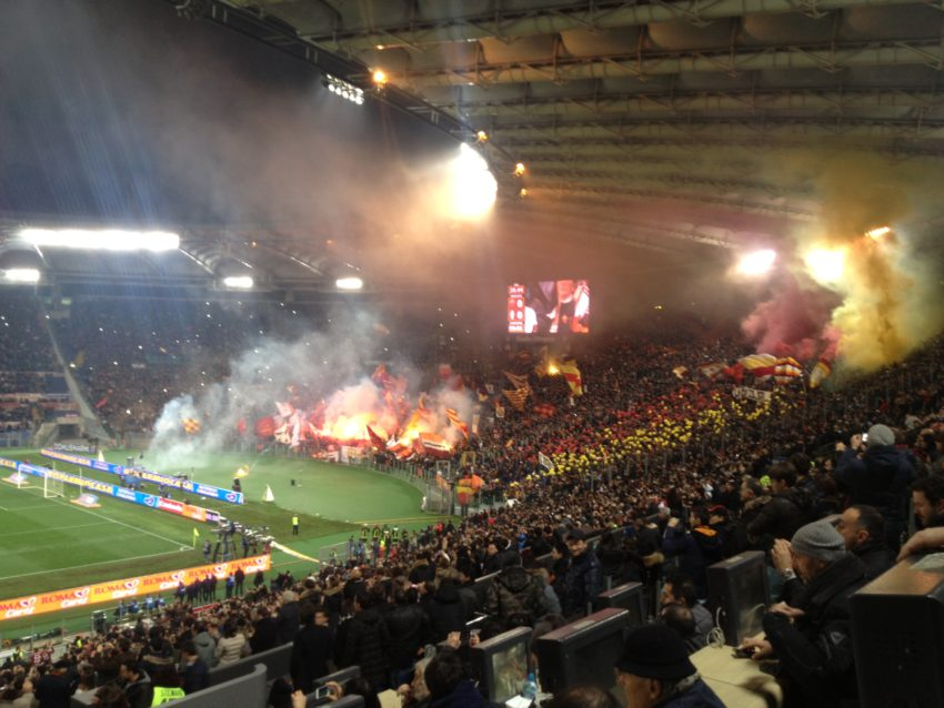 Rome's Olympic Stadium moments before kickoff of Juventus-Roma.