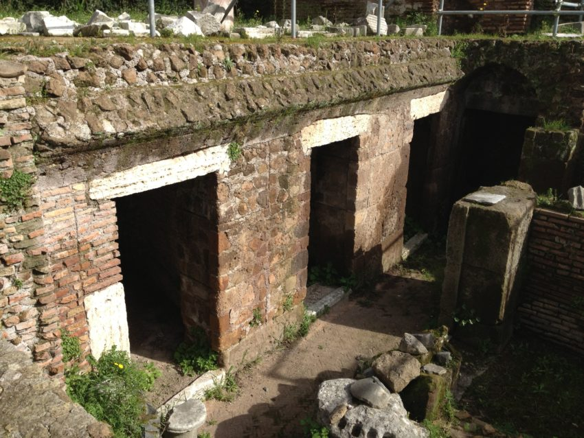 Remains from the brothels of Ancient Rome.
