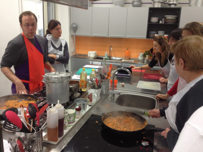 Andre teaches us all how to make penne pasta with sausage, pumpkin and fennel, pizzettes; tiramisu.