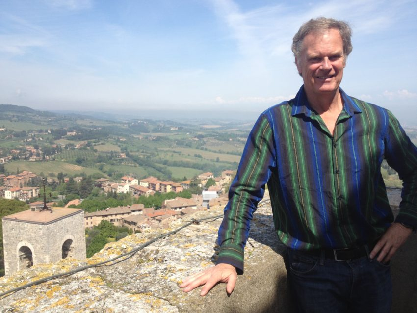 Me high above the Tuscan countryside.