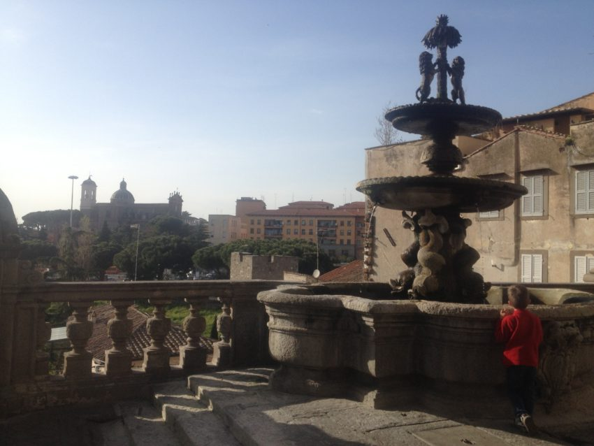 The view from one of Viterbo's many piazzas.