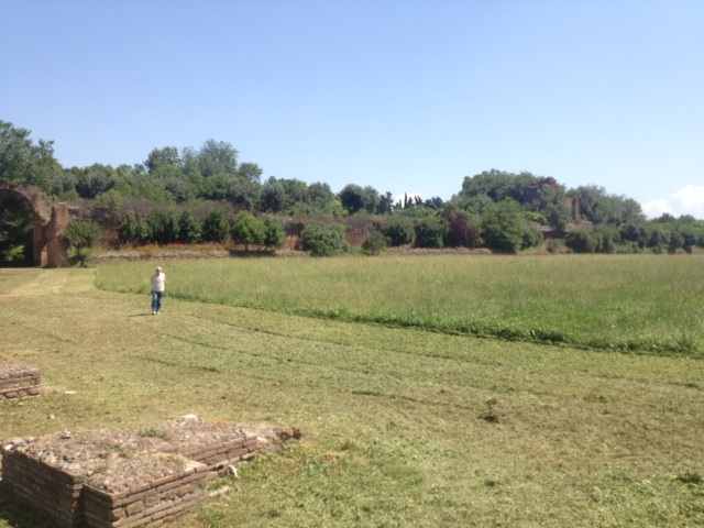 The remains of Circus Maxentius.