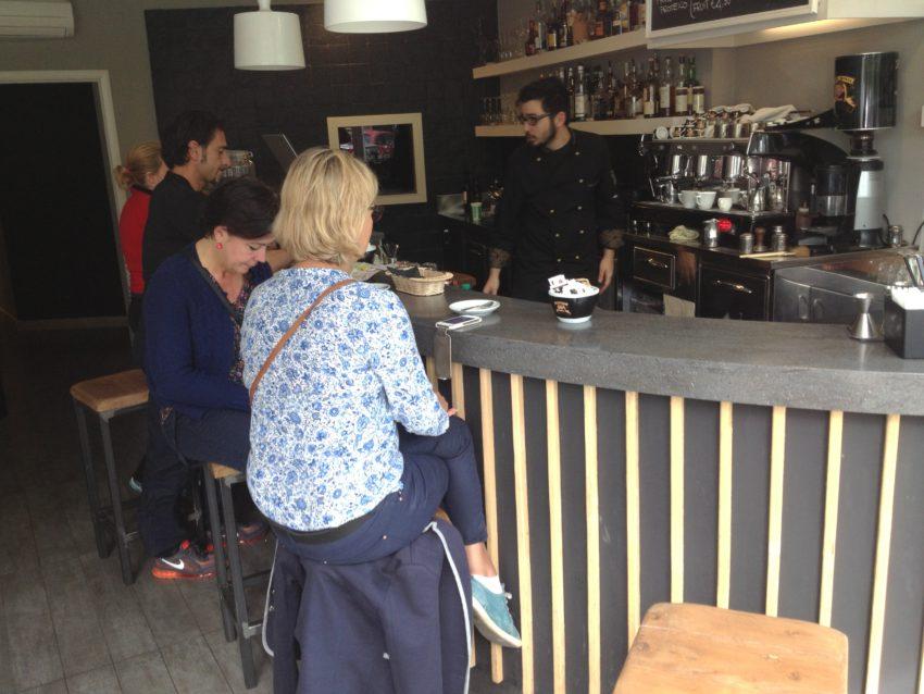 Lungotevere's coffee bar.