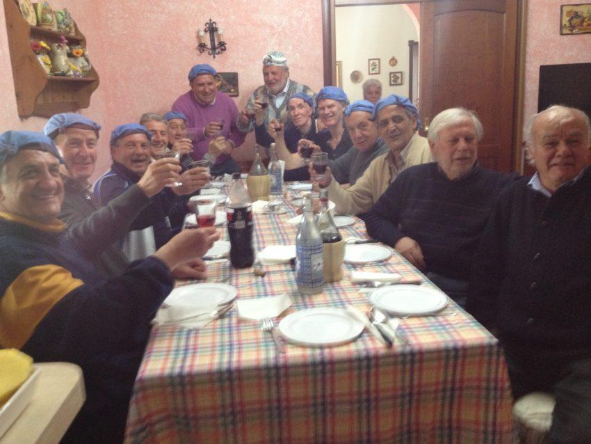 A dinner toast to Abruzzo and Primo Maggio.