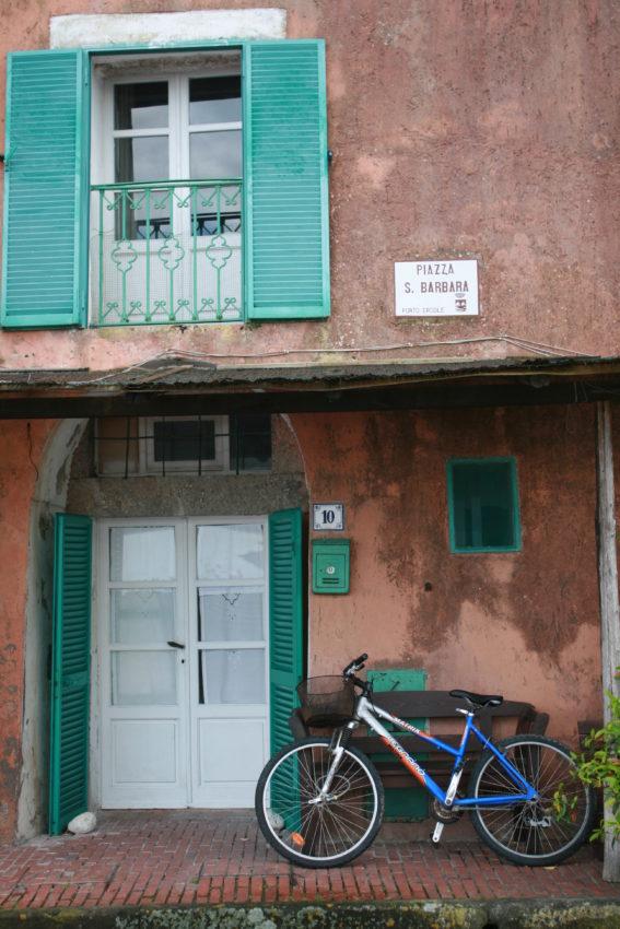 A resident's porch in Porto Ercole.
