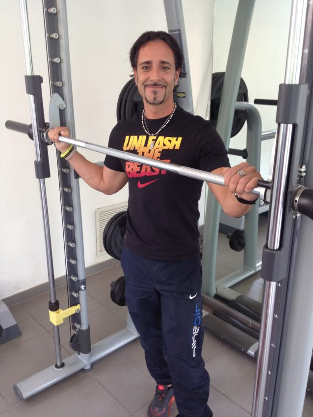 My trainer, Fabrizio, worked in the U.S. for nearly a year.