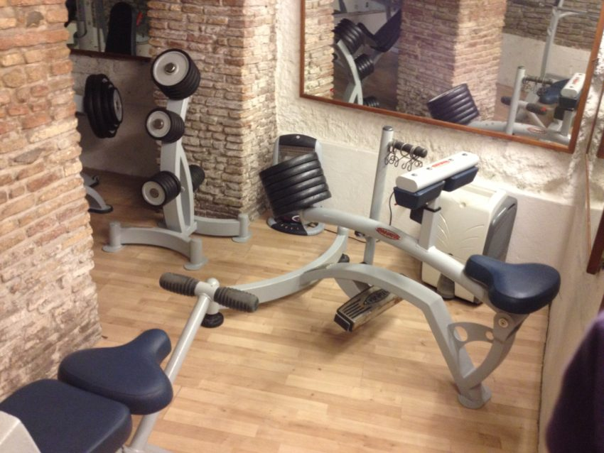 The weight room in Farnese Fitness.