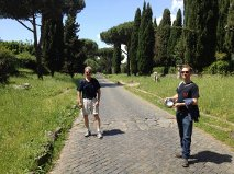 Me (left) on Appia Antica.