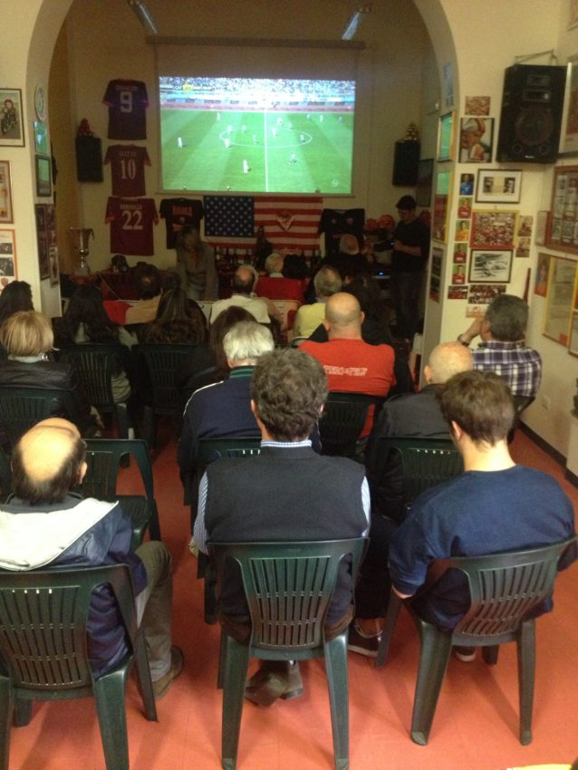The viewing area in the Testaccio Club.