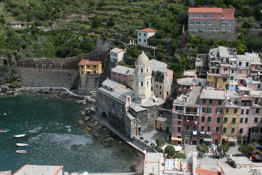 The harbor view from 1,000-year-old Castello Doria.