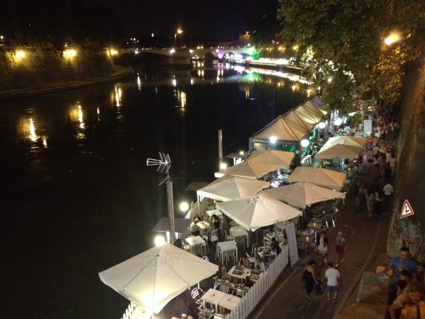 For 12 straight summers, Rome has lined the Tiber River with temporary restaurants, bars, boutiques and art galleries.