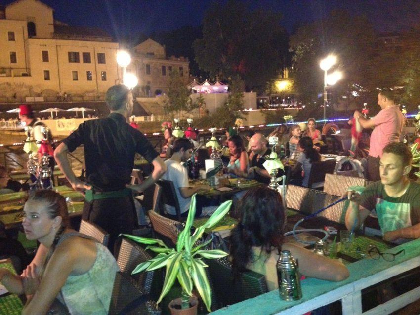 The Taverna Mediterranea serves Middle Eastern food and hookahs.
