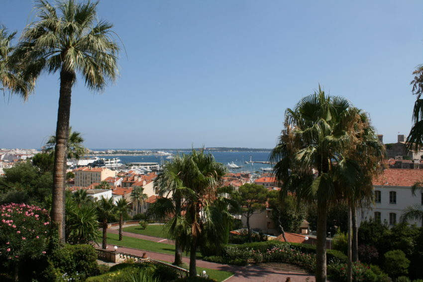 The view of Cannes from my living room window.