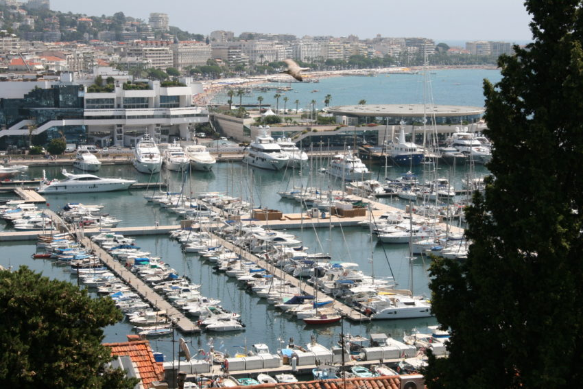 Cannes' harbor is right next to Le Palais where they hold the film festival every May.