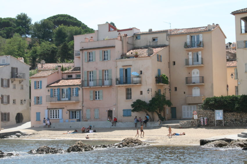 A typical apartment house in Saint-Tropez.