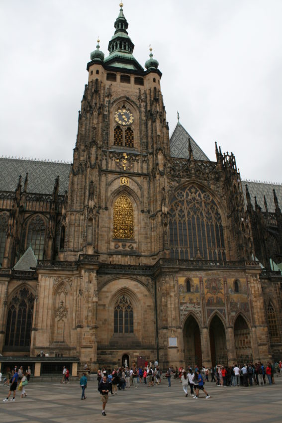 St. Vitus Cathedral is Czech Republic's largest church and is the anchor of Prague Castle.