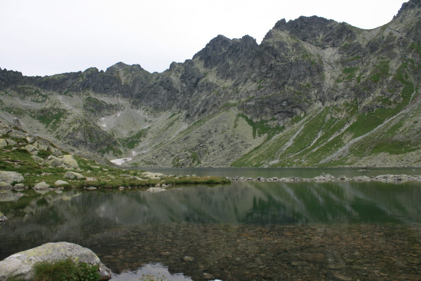 Hincove pleso, at 6,422 feet, comes after a three-hour climb straight up and is on the Polish border.