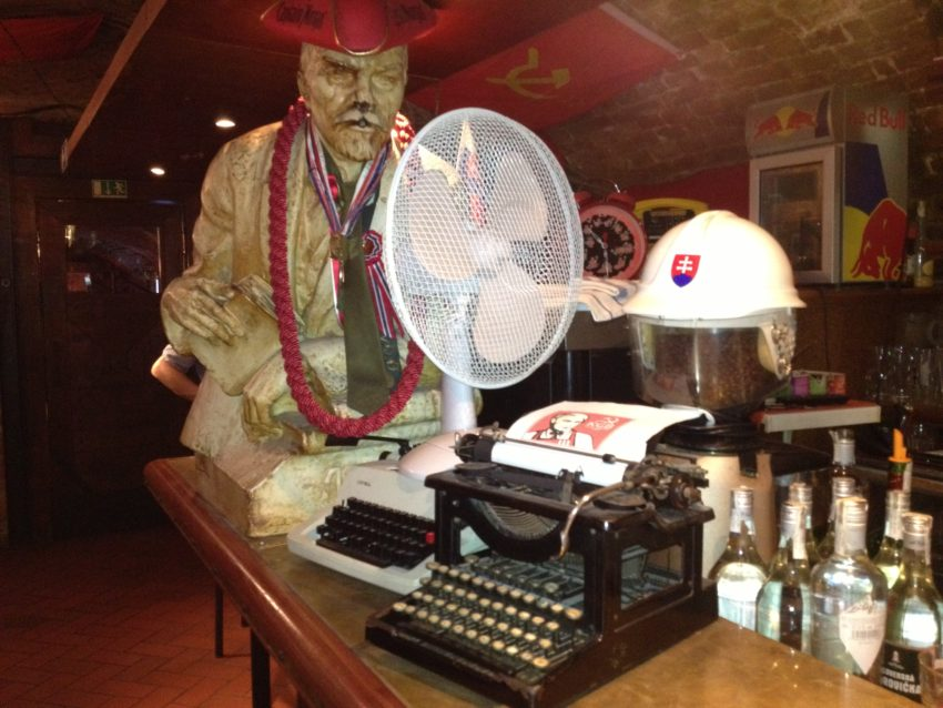 "Vladimir Lenin is a popular figure in Bratislava's KGB bar, which redefines the word ""retro."""