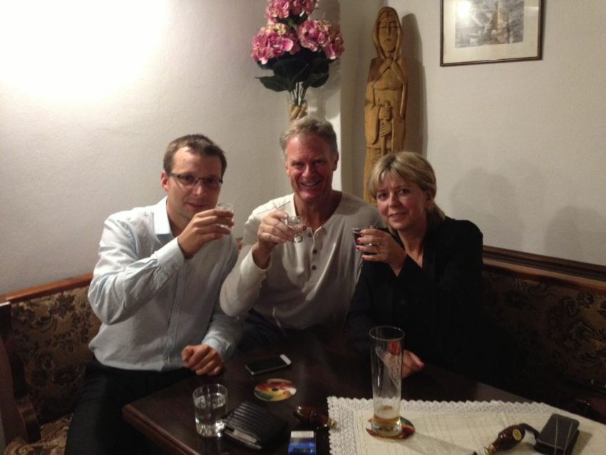 Petr, me and Jana taking our shots in Poprad.