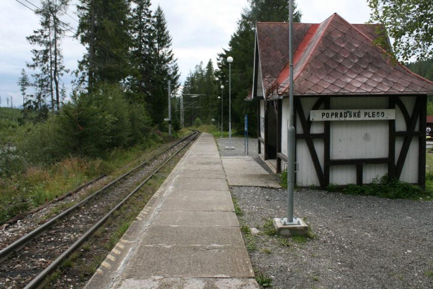 Popradske pleso train station, my final destination.