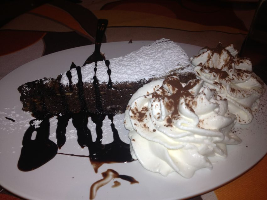 Capri's traditional Torta Caprese chocolate cake.