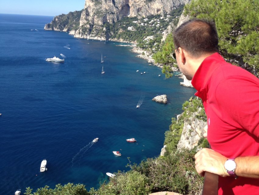 Capri, 27 miles off the coast of Naples, is 4 x 1.8 miles and gets 10,000 visitors a day in summer.