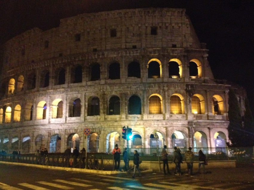 The Colosseum looks especially beautiful in fall.