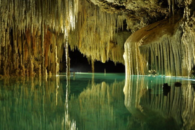 Rio Secreto is 2 million years old and stretches 50 miles underground near Playa del Carmen.