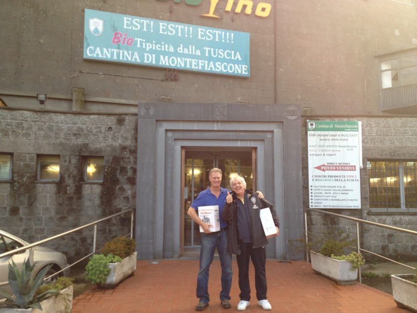 Me and Alessandro Castellani with our loot for one of the cheapest wine and pasta stores in Italy.