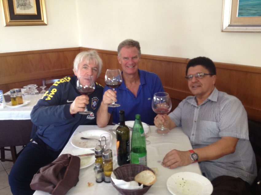 Alessandro, me and Robert Della Vedova having the best gnocchi in Italy at La Felicetta.