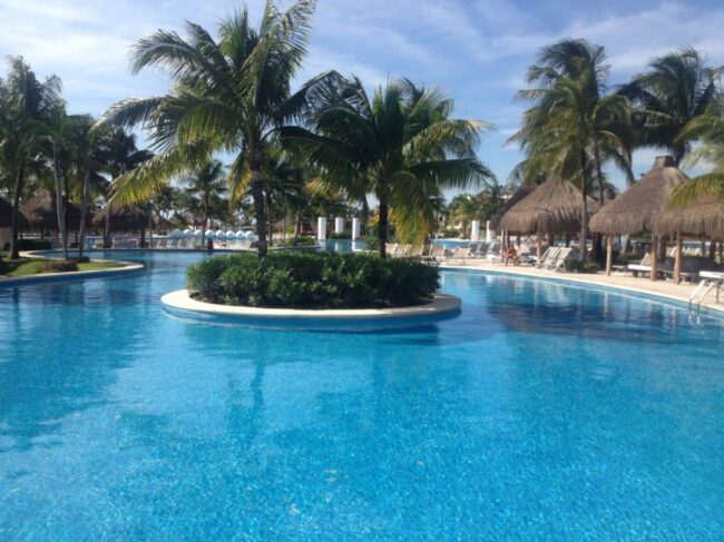 "The Grand Mayan Resort sports ""The Largest Swimming Pool in Latin America."""