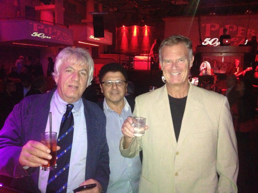 Alessandro Castellani, Robert Della Vedova and myself at the Piper.