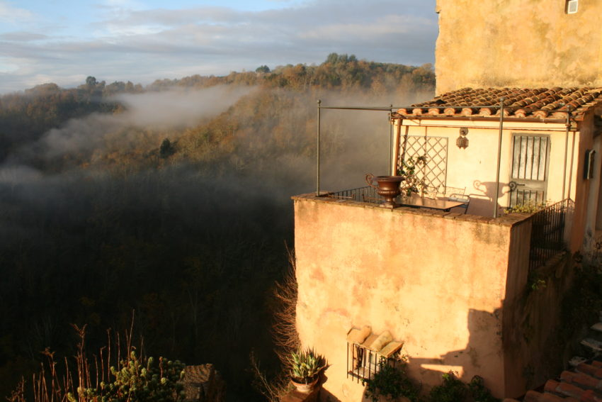 Morning in Calcata is the most magical time of the day.