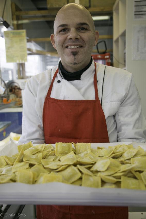 Alessandro, my pasta man at Mercato Testaccio.
