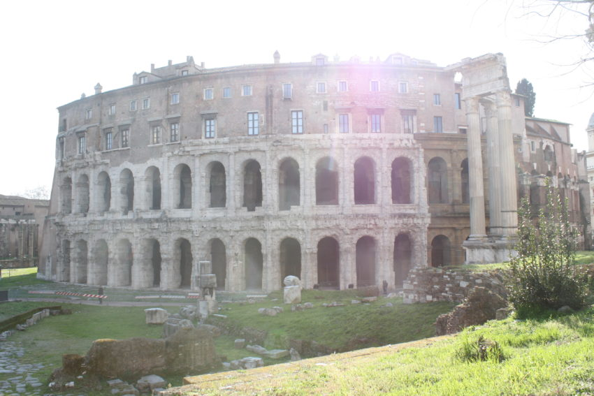 Teatro di Marcello looks like the Colosseum but it was built nearly 100 years earlier.