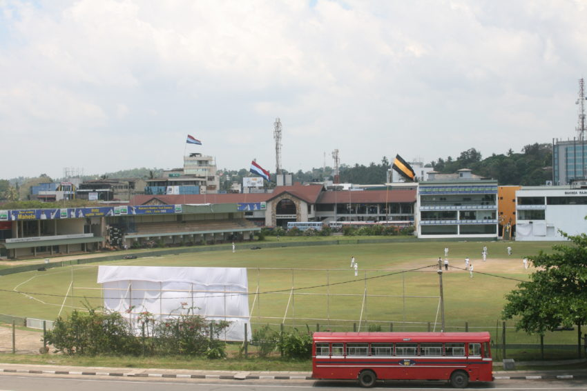 This cricket ground in Galle is one of numerous national stadiums around Sri Lanka.