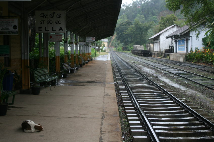 "Ella's train station won Sri Lanka's ""Best Kept Station"" award in 2013."