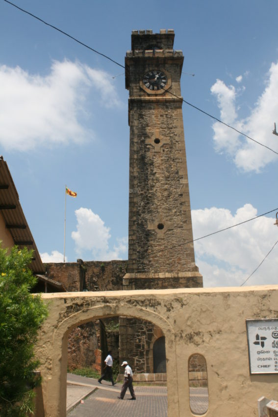 The Fort Clock Tower still tells the correct time after nearly 500 years.