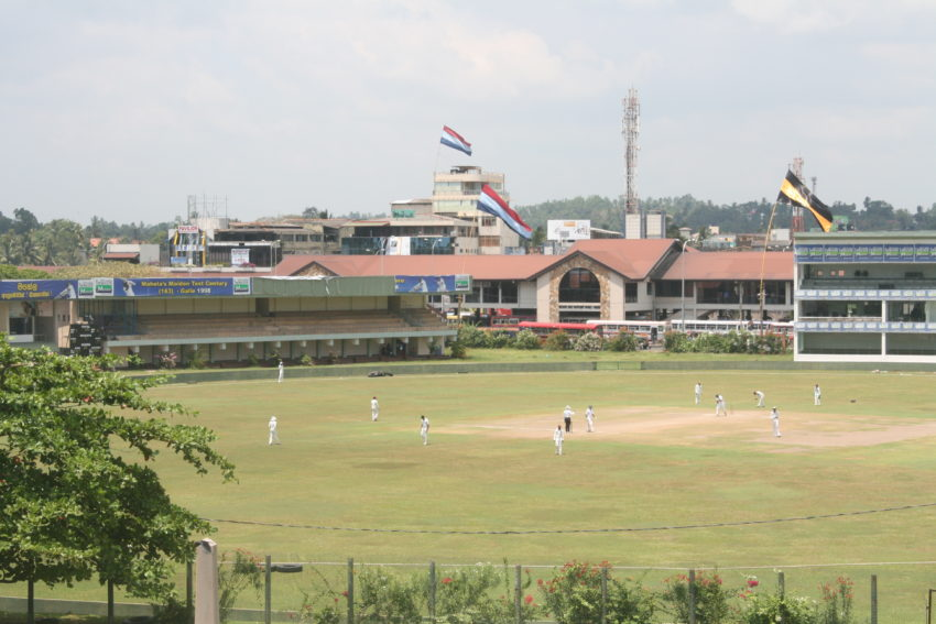 The Fort also affords a great view of one of Sri Lanka's major cricket grounds.