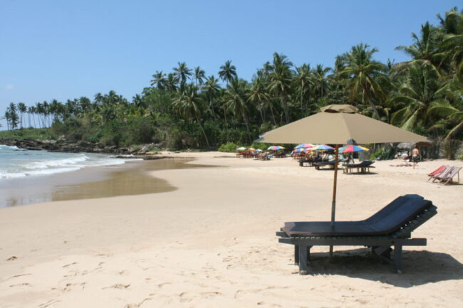 Goyambokka Beach on Sri Lanka's south coast lost only three people in the 2004 tsunami.