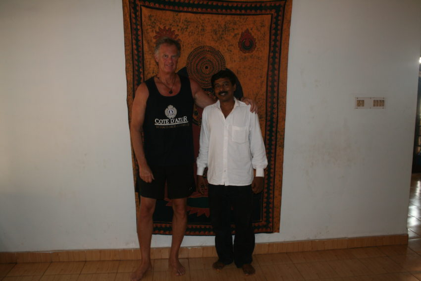 Me and Ullas Kumar, my meditation instructor.