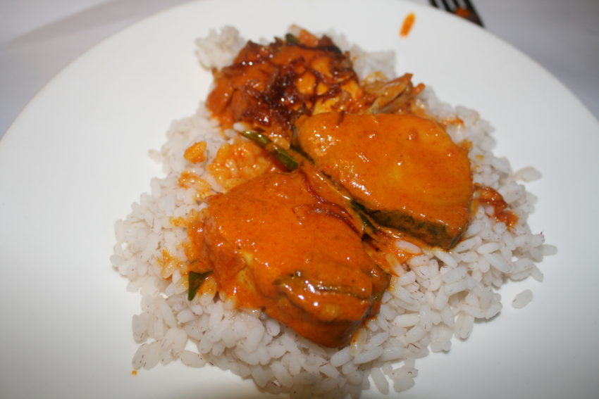 My meen in mango curry at Fusion Bay restaurant after the movie.