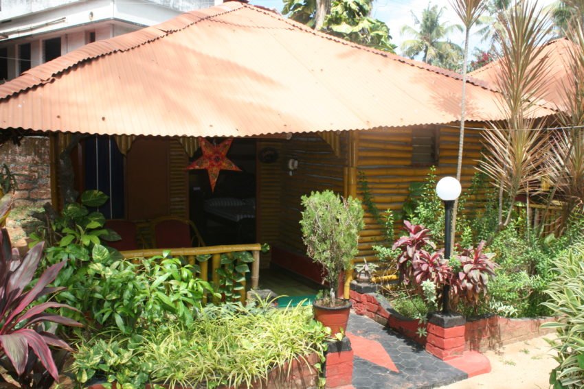 My beach bungalow for 1,000 rupees (about $16) a night.