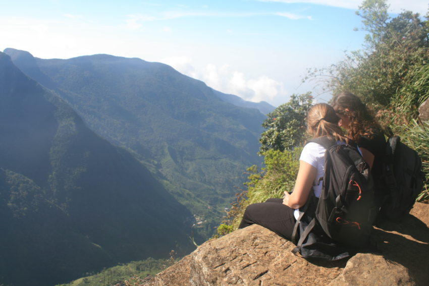 World's End in Horton Plains National Park has an 880-meter drop with no guardrail but the view circumvents the danger.