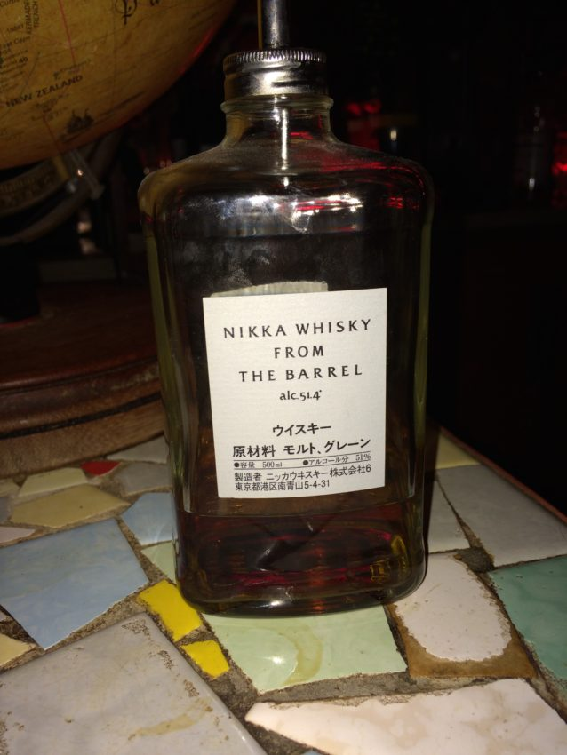 My poison for the night: Japanese whisky.