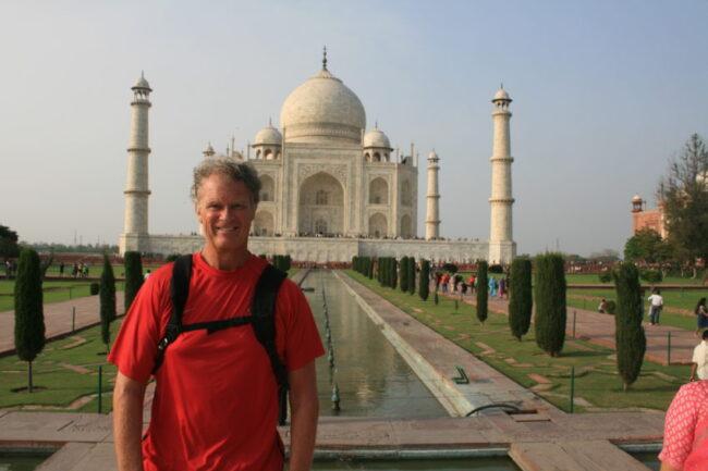 I don't do selfies. Instead, I found a nice Frenchwoman to take the obligatory Taj shot.