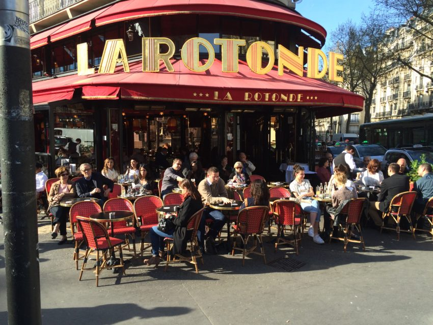 La Rotonde in the Montparnasse was one of Hemingway's favorite restaurants.