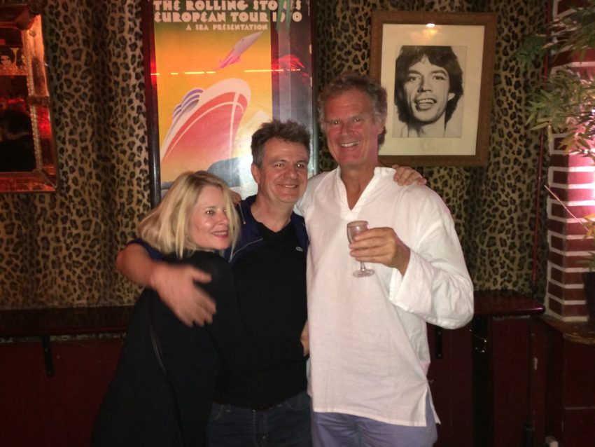Catherine, Eric and me in his Some Girls bar in Paris' Bastille neighborhood.