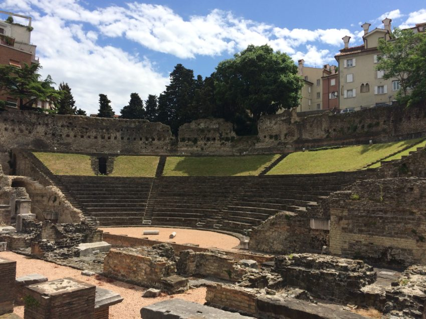 A 1st century amphitheater from Trieste's days in the Roman Empire.